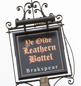 The Leathern Bottle Sign